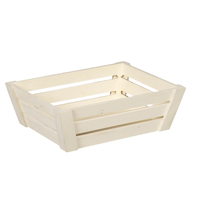 GRANDE CORBEILLE RECTANGLE EN BOIS AJOURE