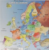 Carte en bois Europe 30x30 cm