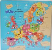 Carte d'Europe puzzle relief 30x30 cm