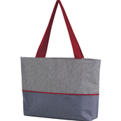 Sac isotherme rectangle gris rouge tissu chiné 2 anses